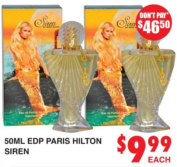 Perfume Siren Paris Hilton http://dimmeys.com.au