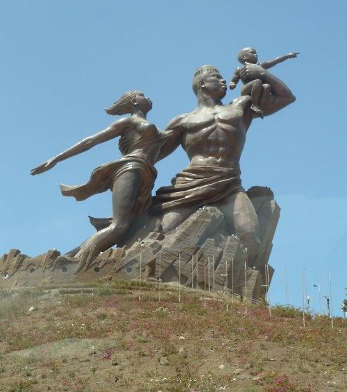 African renaissance monument. Senegal