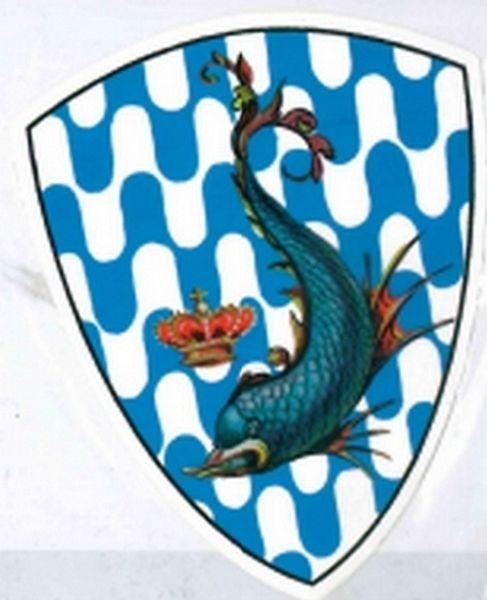 PALIO CONTRADE DI SIENA - Adesivo a forma di scudo ONDA