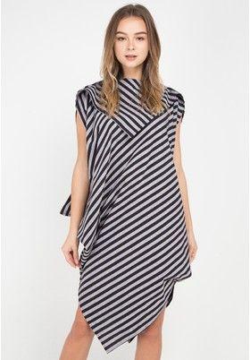 Lurik Dress Senandung from ISVARA BATIK in black and multi and grey 1 8cb971d4db
