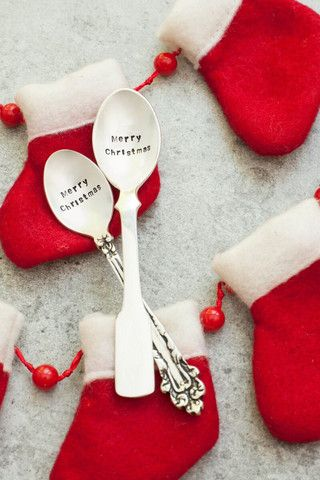 'Merry Christmas' Fiddle Spoon