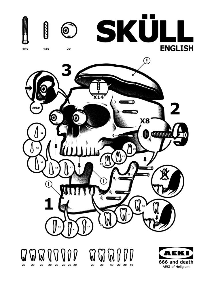 Just having some fun imagining how a skull made by Ikea would look like!