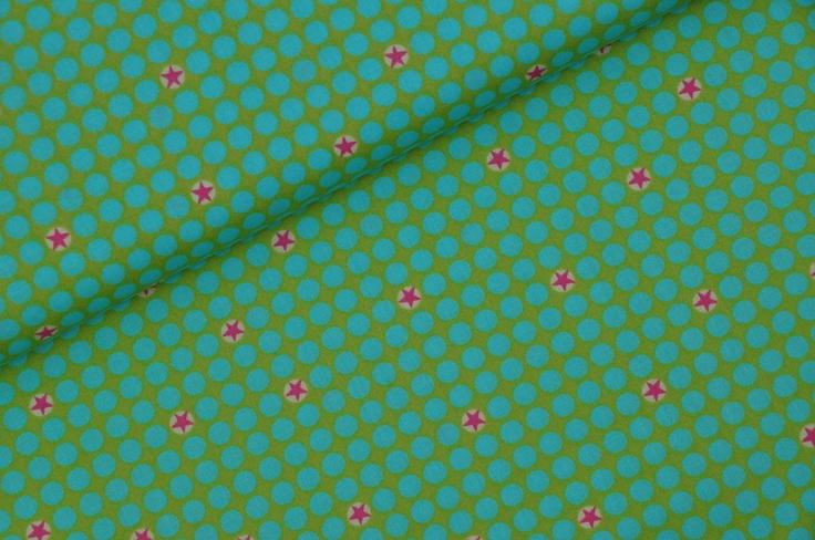 """Natürlich hab ich auch die neuen Stoffe von farbenmix;D""""!    Die sind echt mal wieder richtig toll!    Einmal in grün (hier im Angebot) mit Pünktchen"""