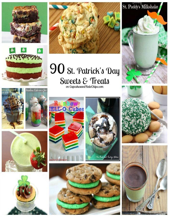 90 St. Patrick's Day Sweets & Treats | cupcakesandkalech... | #stpatricksday #dessert