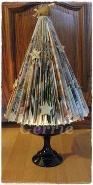 Kerstboom van een tijdschrift