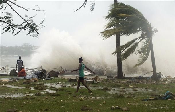 Cyclone Pam hits the Pacific Island Nation of Vanuatu
