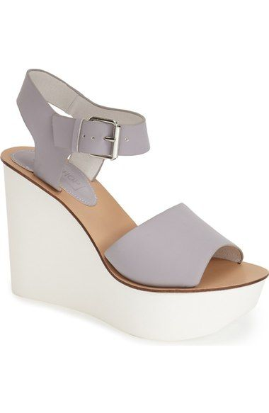 Free shipping and returns on Topshop 'Wedding' Wedge Sandal (Women) at Nordstrom.com. A clean, modern contrast wedge boosts a quarter-strap sandal in a delicate pastel hue.