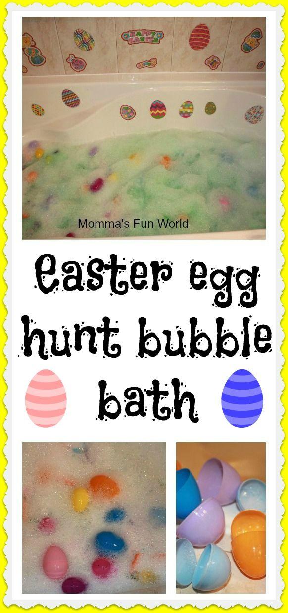 Momma's Fun World: Easter egg hunt bubble bath
