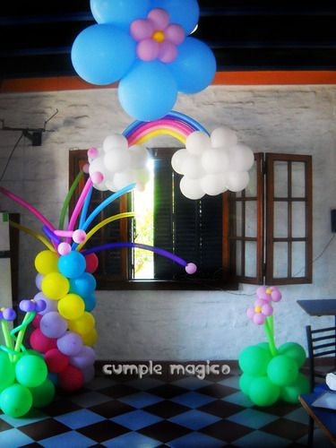 1000 images about globos on pinterest tinkerbell candy - Fiestas infantiles tematicas ...