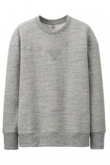 Helmut Lang for Uniqlo - ribbing half way down sweatshirt