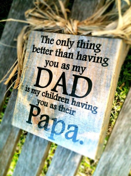 DAD and Papa Block Choose Your Endearing Name See SHIPPING TIME in decription. $21.99, via Etsy.