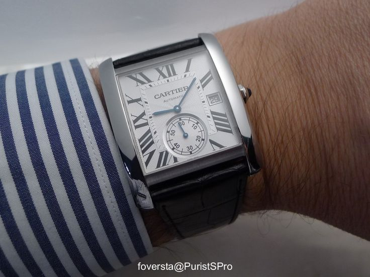 Cartier - Rotonde Double Tourbillon Mysterieux and Tank MC wristshots of two important watches - Cartier
