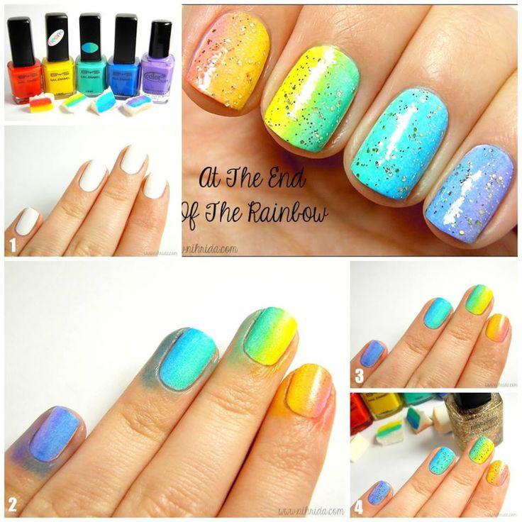 Rainbow Nail Tutorials