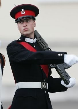 William in his military uniform while training at Sandhurst after his college graduation.
