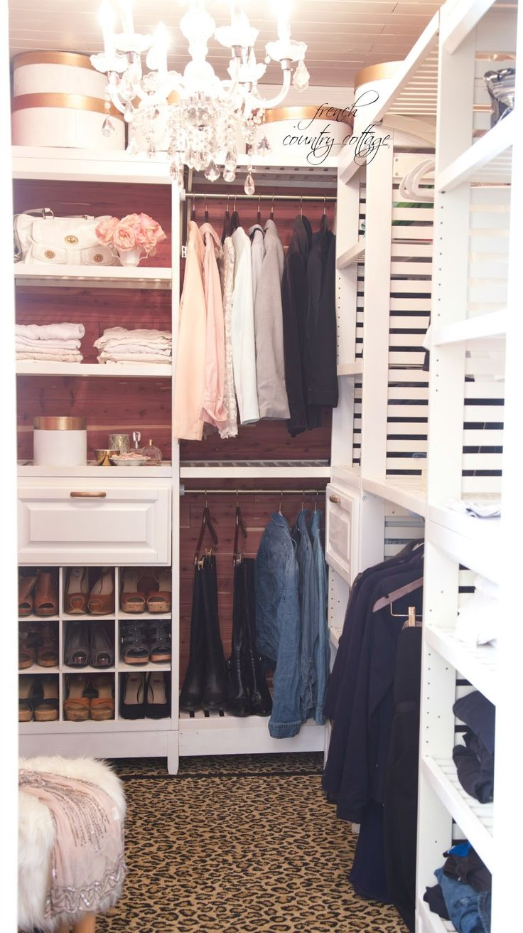 FRENCH COUNTRY COTTAGE: Closet part 2~ A place for everything [What a dream meke]