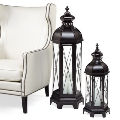 Kiev Lantern From Z Gallerie Two On Dining Table With