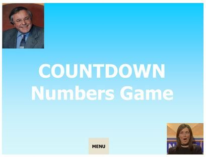 Countdown numbers game, based on the numbers game from the TV show