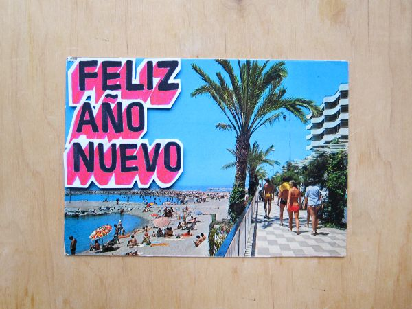 Made by Marianne Lock / Feliz Ano Nuevo / Series of happy newyear's cards / Typography / FOR SALE