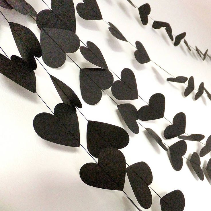 rock and roll hearts paper garland by funky frills uk   notonthehighstreet.com