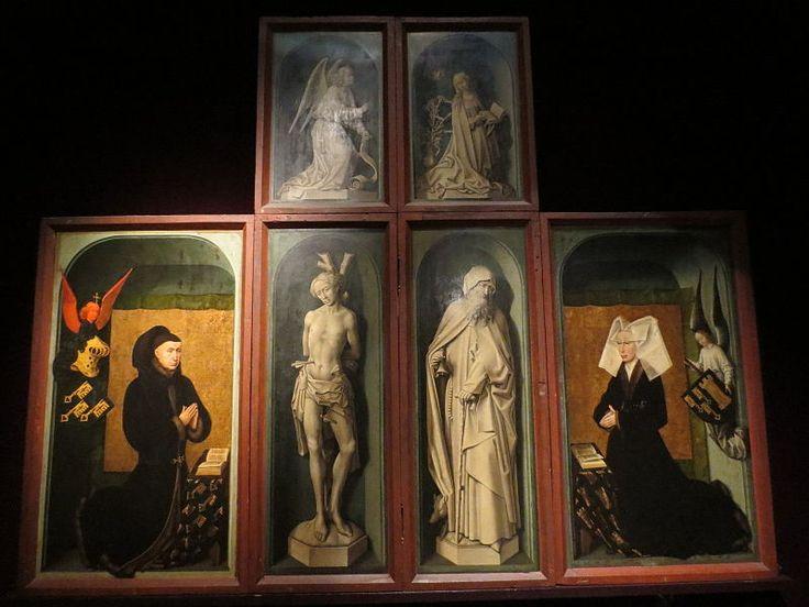 Nicolas Rolin et Guigone de Salins, Le Jugement dernier, par Rogier van der Weyden.