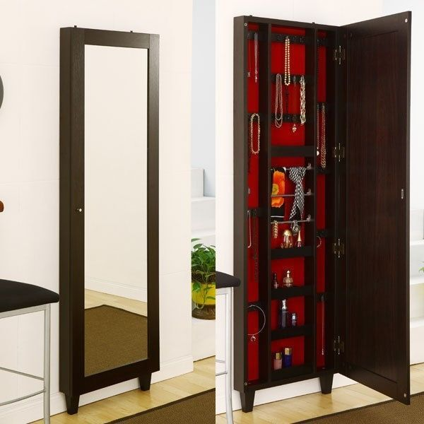 wall mount jewe... Jewelry Armoire With Mirror