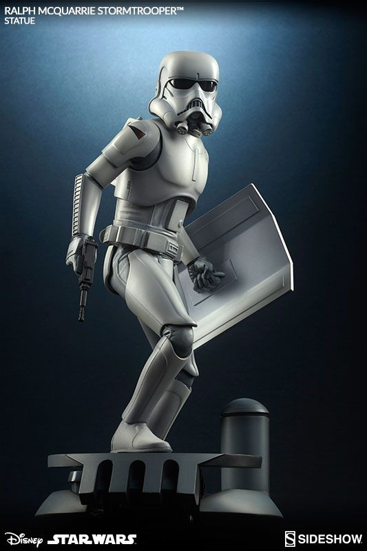 The Stormtrooper Statue from the Ralph McQuarrie Artist Series is now available at Sideshow.com for fans of Star Wars and Disney.