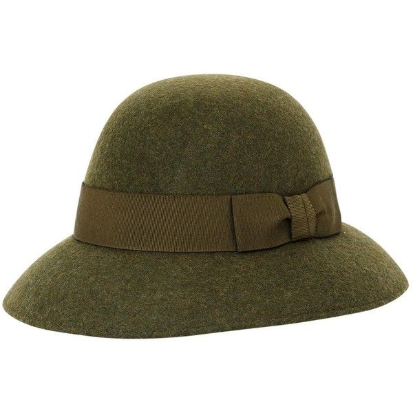 Pre-owned Stella Mc Cartney Wool Hat ($190) ❤ liked on Polyvore featuring accessories, hats, green, green hat, wool cloche hat, cloche hat, band hats and woolen hat