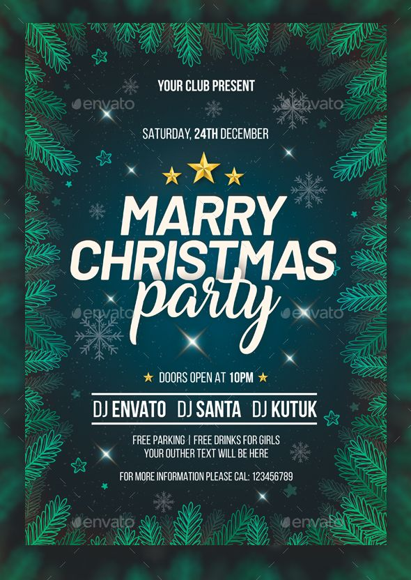 Best Christmas Flyer Templates Images On