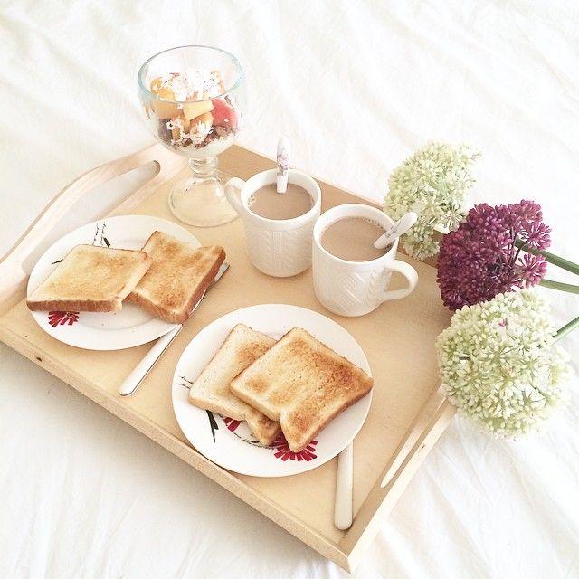 breakfast, cofee, toast