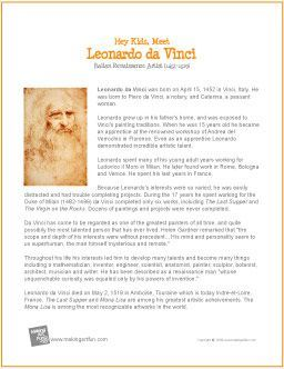 Leonardo da Vinci | Printable Biography