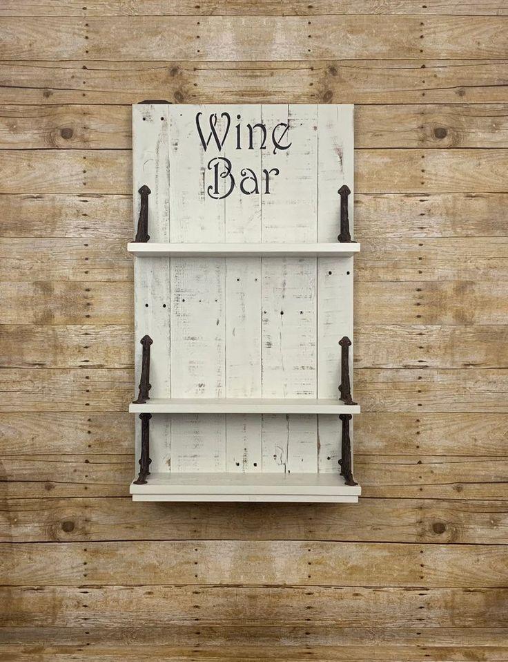 Farmhouse chic wine bar rustic wine bar rustic wine rack