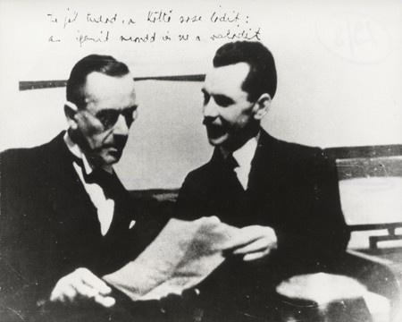 Escher Károly - Thomas Mann és József Attila 1937.01.13