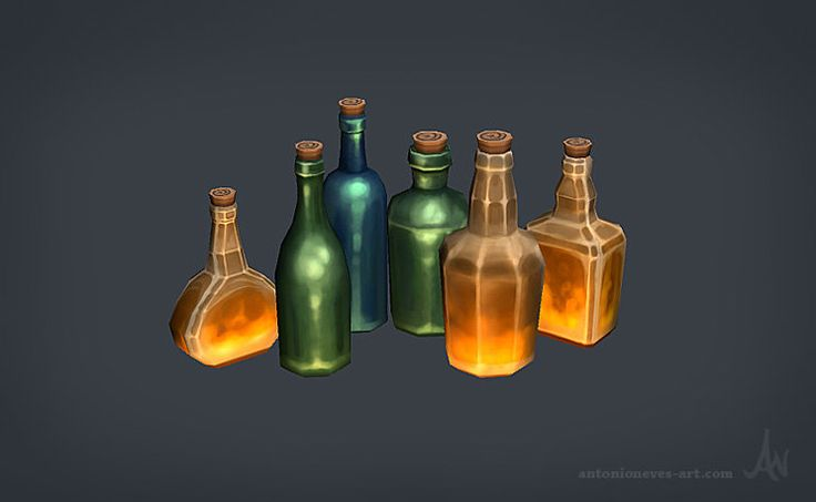 ArtStation - Hand painted props, Antonio Neves