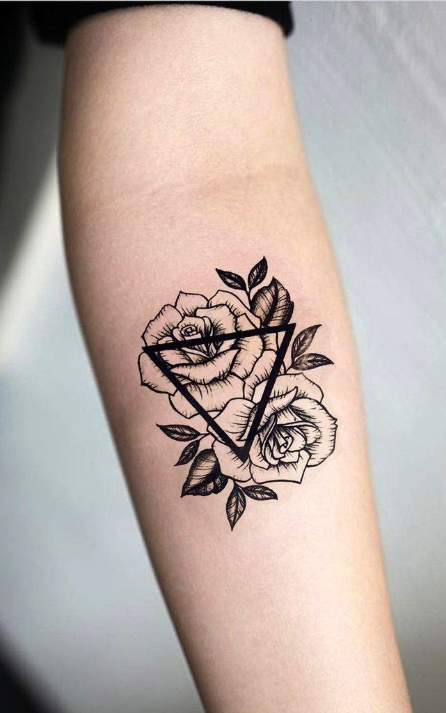 Geometric Triangle Forearm Flower Tattoo Small Ideas Women Rose Arm Tat For In 2020 Small Forearm Tattoos Tattoo Designs And Meanings Forearm Flower Tattoo