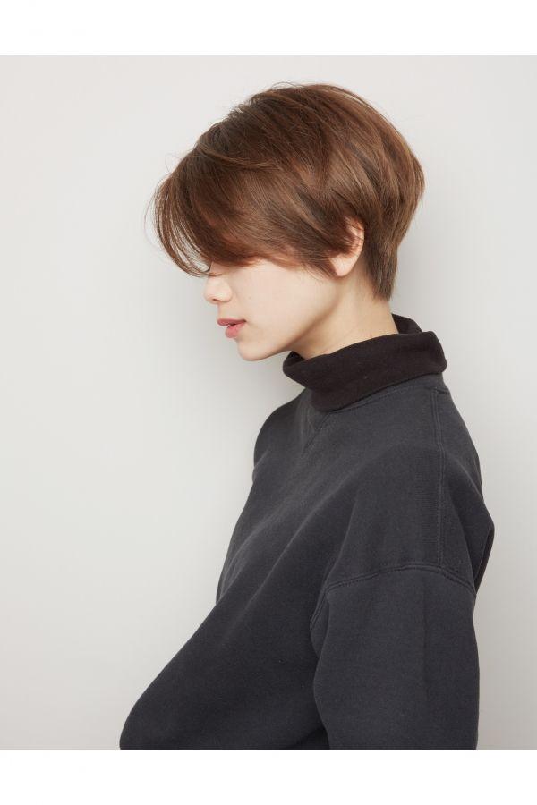 """髪をスッキリしたいけど""""女性らしさ""""も欲しい方へ!前髪長めショートヘア‼︎   美容室カキモトアームズのおすすめヘアスタイルカタログ"""