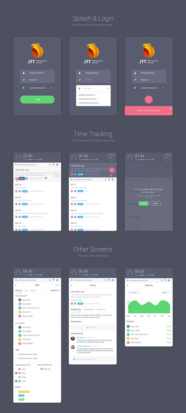 time tracker app for iphone and android