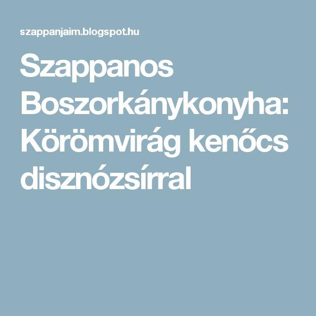 Szappanos Boszorkánykonyha: Körömvirág kenőcs disznózsírral