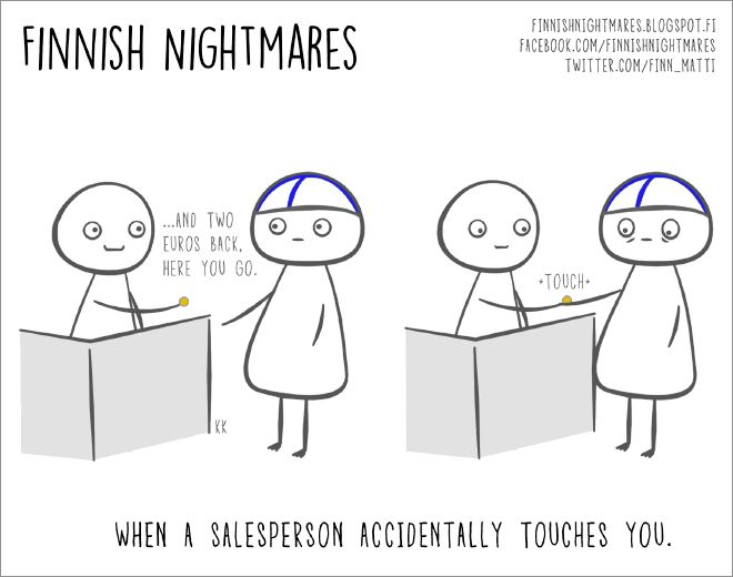 "Cartoons of ""Finnish Nightmares"" All Introverts Can Relate To"