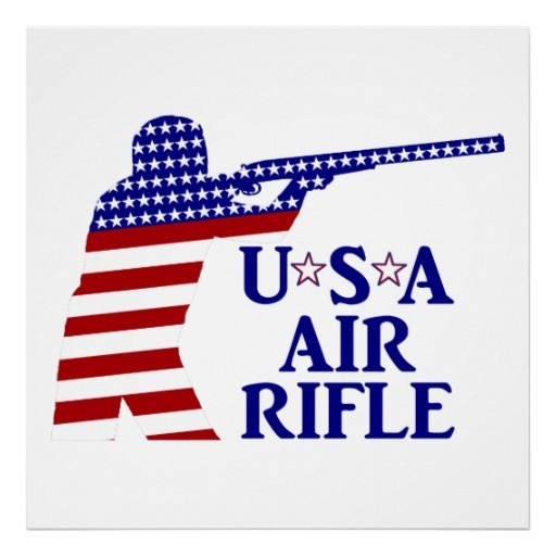 SOLD ! #USA Air Rifle Shooting Print shipping to  Kansas City, MO #Shooting #airrifle