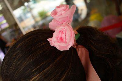 Projetos Inventivos - detalhe no cabelo da garçonete