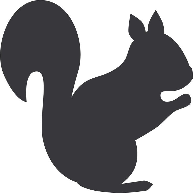 Best Squirrel Silhouette #7600 - Clipartion.com