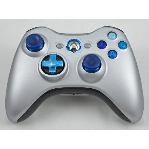 Drop shot, Auto-aim, Jitter Xbox 360 Modded Controller COD MW3, Black Ops, MW2, Rapid fire mod (Silver/Chrome Blue) (Video Game)  http://documentaries.me.uk/other.php?p=B008D6J0SG  B008D6J0SG