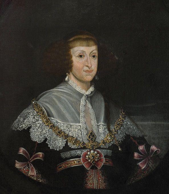 ca. 1639 Cecilia Renata of Austria by Frans Luyckx (Muzeum Pałac w Wilanowie - Warsawa Poland)-gogmsite-grand ladies 1620-1715