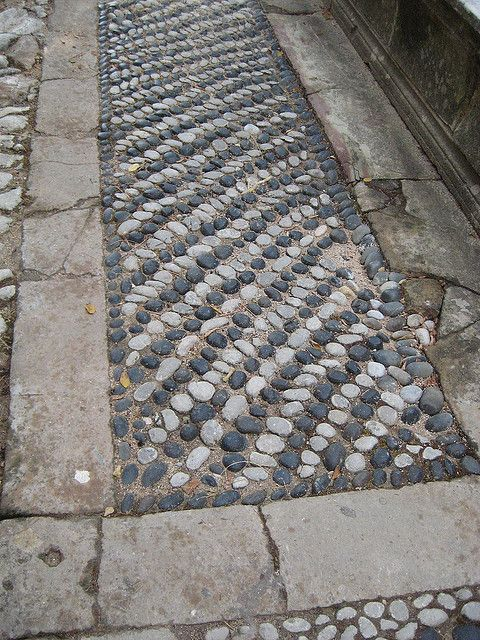 Pebble mosaic walk     #mosaic #art #garden