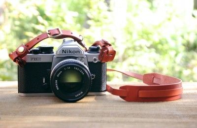 レザーカメラストラップ G