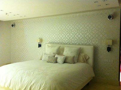 do you like wintery whites stenciled in your bedroom zamira stencil http - Ly Design Your Bedroom