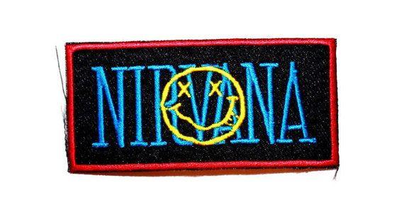 Nirvana Patch Smiley Face Logo Badge Alternative Rock Band