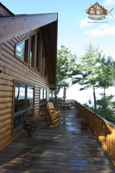 17 best images about porches decks on pinterest porch for Log home decks