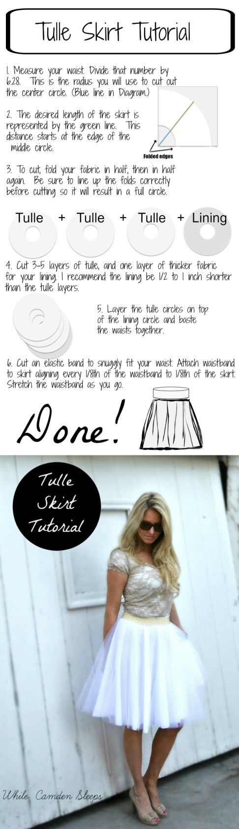 """The Lazy, or """"efficient"""" way to make a diy tulle skirt // While Camden Sleeps"""