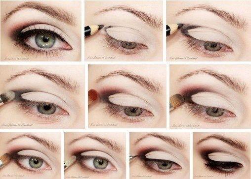 Отличный вечерний макияж для любого цвета глаз, карандашная техника